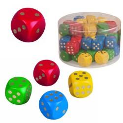 Drevená hracia kocka - 2,5 cm - červená