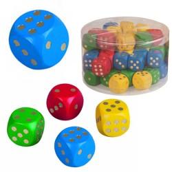 Drevená hracia kocka - 2,5 cm - modrá