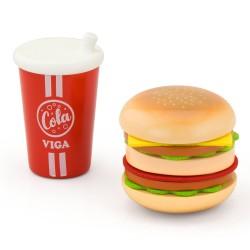 VIGA drevený hamburger a Cola