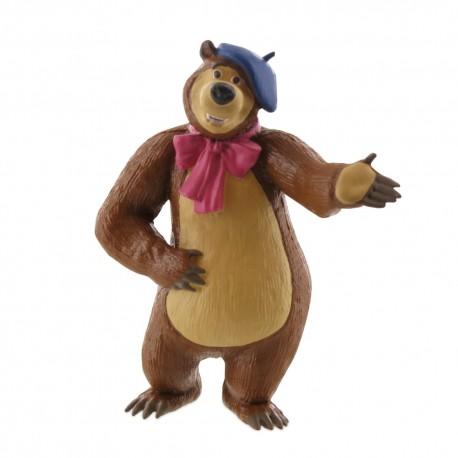 Comansi Máša a Medveď - Medveď s baretkou rozprávková figúrka