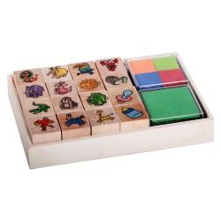 Detské pečiatky - set v krabičke - Divoké zvieratká