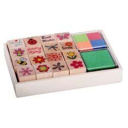 Detské pečiatky - set v krabičke - Kvietky