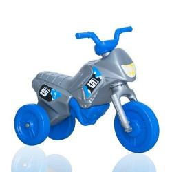 Enduro MotoKidZ Detské odrážadlo - motorka MINI - šedo-modrá