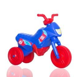 Enduro MotoKidZ Detské odrážadlo - motorka MINI - modro-červená