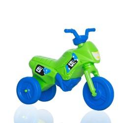 Enduro odrážadlo motorka malá - zeleno-modrá