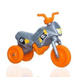 Enduro MotoKidZ Detské odrážadlo - motorka MINI - šedo-oranžová