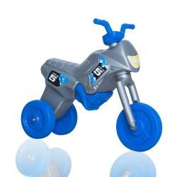 Enduro MotoKidZ Detské odrážadlo - motorka MAXI - šedo-modrá