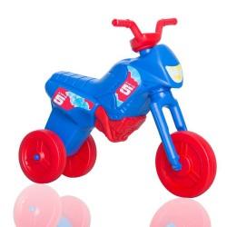 Enduro MotoKidZ Detské odrážadlo - motorka MAXI - modro-červená