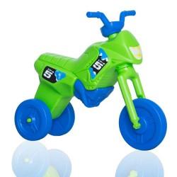 Enduro MotoKidZ Detské odrážadlo - motorka MAXI - zeleno-modrá