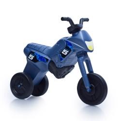 Enduro MotoKidZ Detské odrážadlo - motorka MAXI - oceľovomodrá