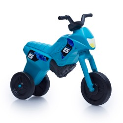 Enduro MotoKidZ Detské odrážadlo - motorka MAXI - tyrkysová