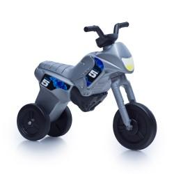 Enduro MotoKidZ Detské odrážadlo - motorka MAXI - šedá