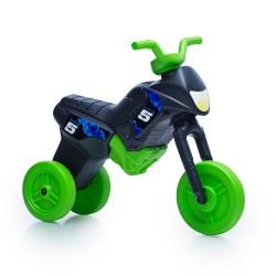 Enduro MotoKidZ Detské odrážadlo - motorka MAXI - čierno-zelená