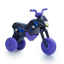 Enduro MotoKidZ Detské odrážadlo - motorka MAXI - čierno-fialová