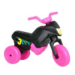 Enduro MotoKidZ Detské odrážadlo - motorka MINI - čierno-ružová