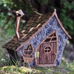 Domček pre miniatúrne záhradky - XL chalúpka s komínom