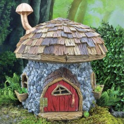 Domček pre miniatúrne záhradky - XL hríbový domček