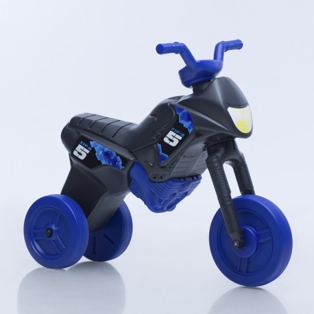 Enduro MotoKidZ Detské odrážadlo - motorka MAXI - čierno-modrá