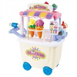 PLAY GO Detský stánok na kolieskach Dough Ice Cream s plastelínou