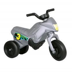 Enduro MotoKidZ Detské odrážadlo - motorka MINI - šedá