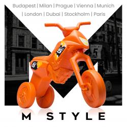 Enduro MotoKidZ Detské odrážadlo - motorka MAXI M-Style - oranžová