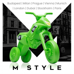 Enduro MotoKidZ Detské odrážadlo - motorka MAXI M-Style - zelená