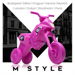 Enduro MotoKidZ Detské odrážadlo - motorka MAXI M-Style - ružová