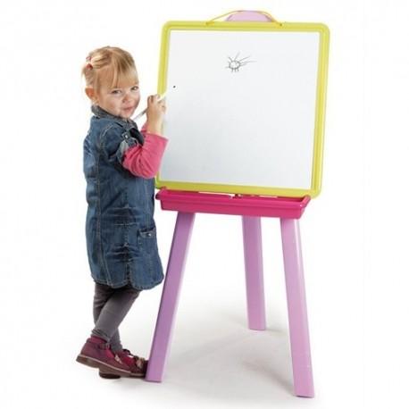 SMOBY Obojstranná detská tabuľa - ružová