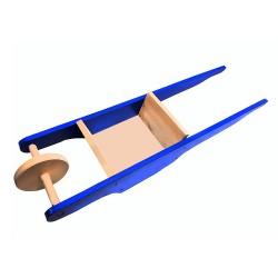 Detský drevený fúrik - modrý