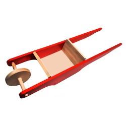 Detský drevený fúrik - červený