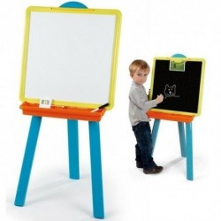 SMOBY Obojstranná detská tabuľa - modrá