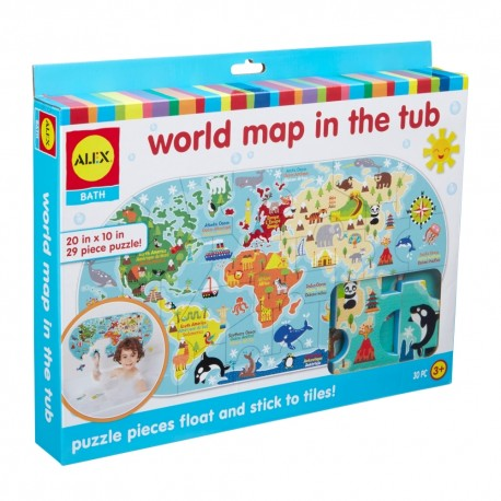 ALEX - penové nálepky Mapa sveta