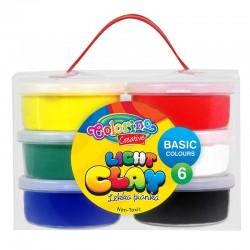 Colorino Kids farebná modelovacia hmota Light Clay - 6 farieb Basic
