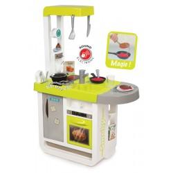 Detská kuchynka Smoby Cherry elektronická so zvukmi, s opečenými potravinami a kávovarom s 25 doplnkami