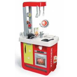 Detská kuchynka Bon Appetit Smoby elektronická s kávovarom zvukmi a svetlom a 23 doplnkami
