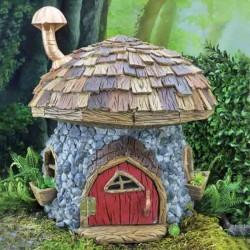 Domček pre miniatúrne záhradky - hríbový domček