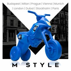 Enduro MotoKidZ Detské odrážadlo - motorka MINI M-Style - modrá