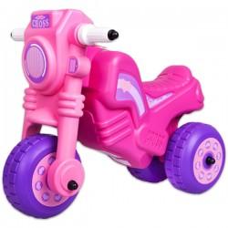 Dohány odrážadlo Cross motorka veľká - magenta-ružová