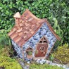 Domček pre miniatúrne záhradky - domček so šindľovou strechou