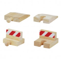 Mentari Drevené nárazníky k drevenej vláčikovej dráhe - 4 kusy