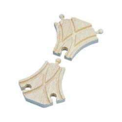Mentari Drevené koľajnice k vláčikovej dráhe - symetrická výhybka - 2 kusy