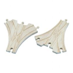 Mentari Drevené koľajnice k vláčikovej dráhe - trojcestná výhybka - 2 kusy