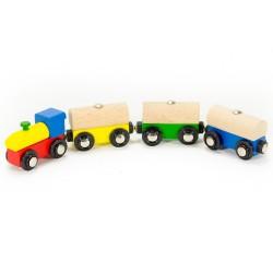 Mentari drevený farebný vláčik - nákladný