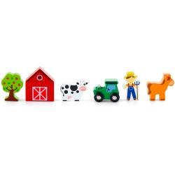 VIGA Doplnky k drevenej vláčikovej dráhe - Farma