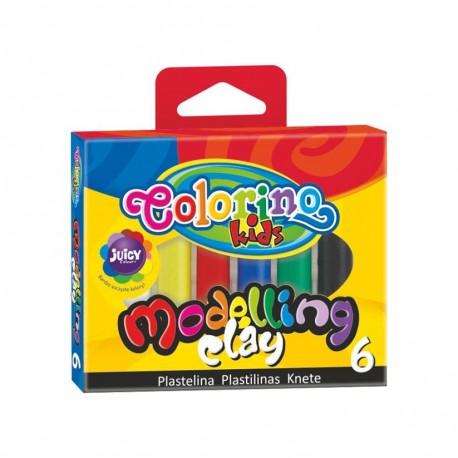 Colorino Kids farebná plastelína 6 farieb Classic