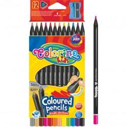 Colorino Kids farebné ceruzky z čierneho dreva 12 ks