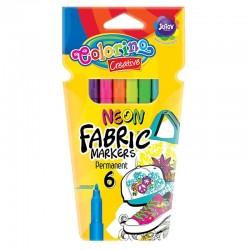 Colorino farebné fixky na textil 6 farieb
