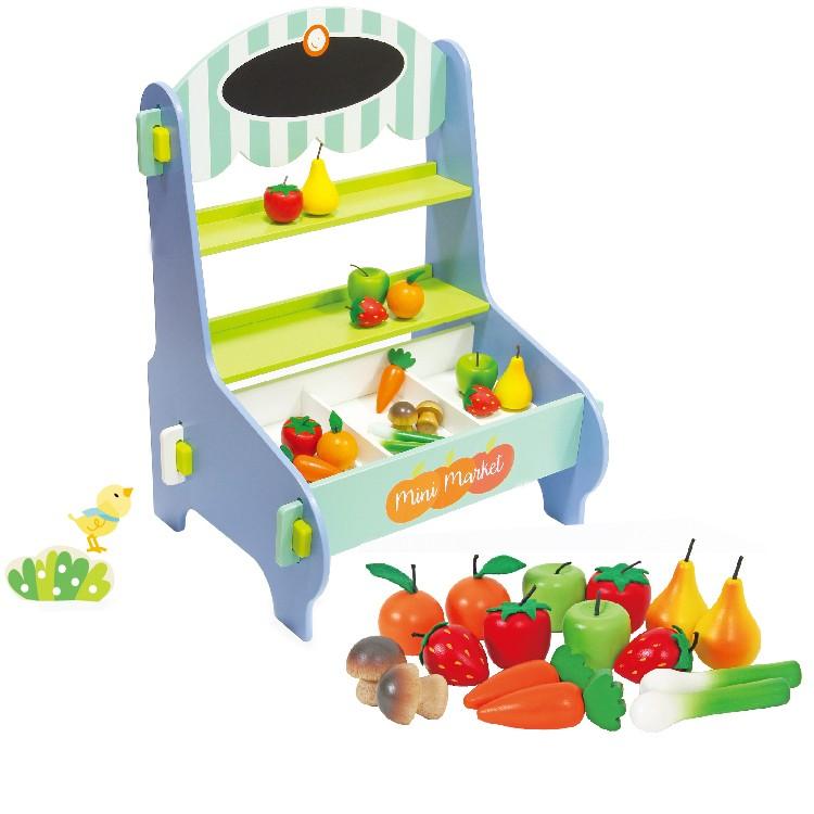 887198cec ... Mentari Drevený detský predajný stánok s ovocím a zeleninou ...