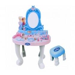 BILDO Detský kozmetický stolík Frozen so stoličkou a 16 doplnkami