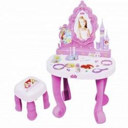 BILDO Detský kozmetický stolík Disney Princess so stoličkou a 17 doplnkami